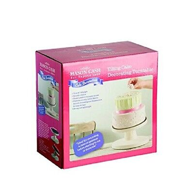Y07989 Mason Cash 23.5 cm Tilting Cake Decorating Turntable in a Gift Box (5196)