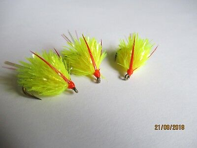 3X NEW TEQUILA BLOBS FLY FISHING TROUT FLIES LURES SIZE 8 KAMASAN B160 FREE P/&P