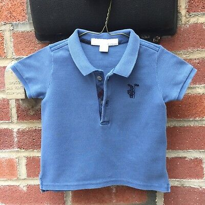1cb93d2a 🇬🇧6 Months Authentic Burberry Polo T-shirt Tee Baby Boys Jeans Blue Check