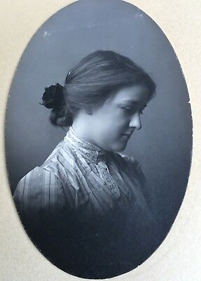 1904 Antique Pretty YOUNG Lady TEEN GIRL CABINET CARD PHOTO Susan Armstrong