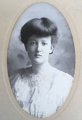 1904 Antique Pretty YOUNG Lady TEEN GIRL CABINET CARD PHOTO Ethel Walbridge