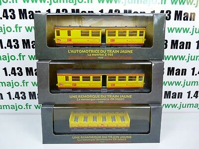 Lot 6AM AM11+12+13 Automotrices SNCF 1/87 HO Auto Train jaune z105+ zr 20001 033