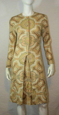 GAY GIBSON Mod Baroque Vintage 60s Coat Dress