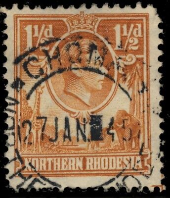 """NORTHERN RHODESIA - 1945 - SG30 CANCELLED """"CHOMA"""" DOUBLE CIRCLE DATE STAMP -a"""