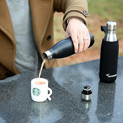 Stainless Steel Bottle 17 Oz Insulated Travel Vacuum Coffee Water Flask Hot Cold