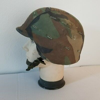 US Army UNICOR PASGT Helmet W/ Camouflage Cover Vintage Camo M-7
