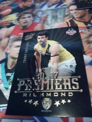 Trent Cotchin Signed Richmond Premiers Card 2017 Signed AFL Card