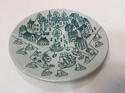 "Nymolle Art Faience Denmark Hoyrup Small Plate 4006 Limited Edition, 4 7/8"" Dia"