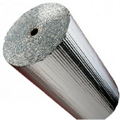 """IES 48"""" x 100' Double Bubble Reflective Foil Insulation Solid Thermal Barrier R8"""