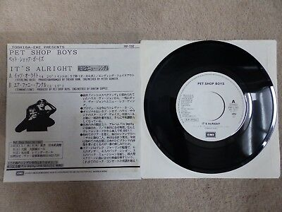 "Pet Shop Boys - It's Alright / Your Funny Uncle - Japanese Promotional 7"" Vinyl"