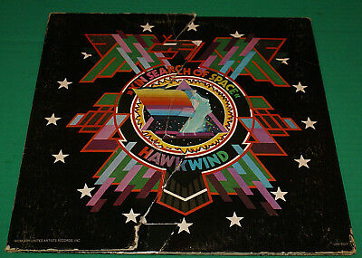 Hawkwind In Search Of Space Lp 1st Press Fold Open Cover + Log Book 1972 Rare!!!