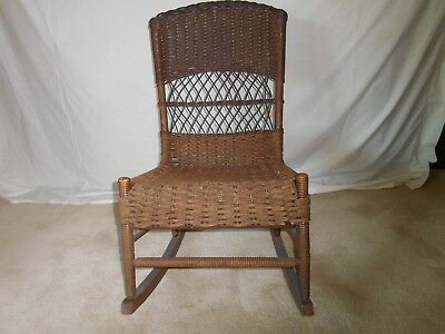 Antique Wicker Rocking Chair Beautiful Perfect Condition