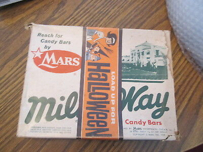 """Milky Way vintage """"Load up for Halloween"""" candy bar box"""
