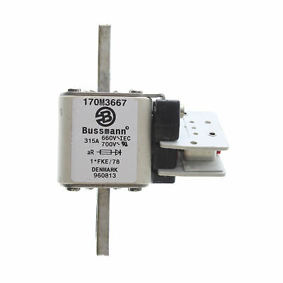 Bussman 170M3667 Square Body High Speed Fuse, 660V/700-Volt, 315-Amp