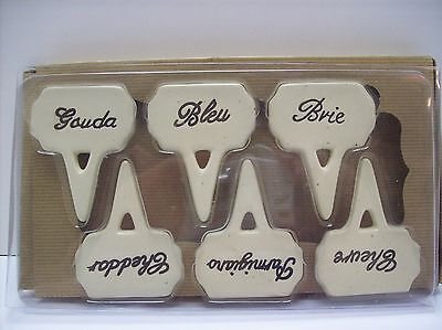 Porcelain Cheese Markers - Set of 6