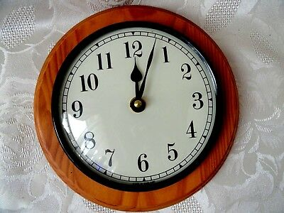 Vintage Wooden Frame School / Office Wall Clock Made in England D - 18 cm