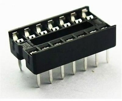 50Pcs DIP14 Sockets Adaptor Solder Type 14 Pin Ic New te
