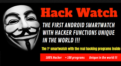 THE FIRST ANDROID Smartwatch With Hacker Functions + 100 Programs !!!!