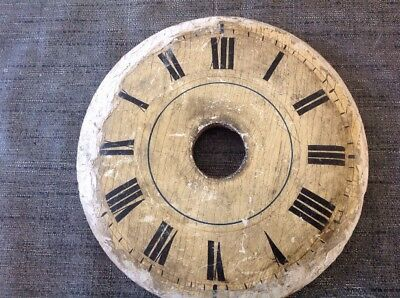 Antique Clock Face Dial Wooden 150mm Dia.