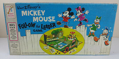 Walt Disney Mickey Mouse Follow the Leader Vintage 1971 MB Board Game