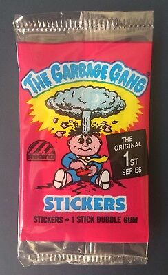 1988 Australia Garbage Pail Kids Series 1 Empty Pack~The Garbage Gang~VGC~Rare