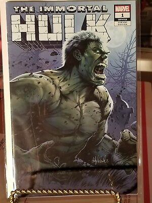 The Immortal Hulk #1 Ashley Witter/AOD Variant Limited 3000 Marvel 2018