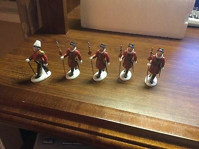 Dept 56 Yeomen of the Guard SET OF 5 Christmas Heritage Village EXCELLENT