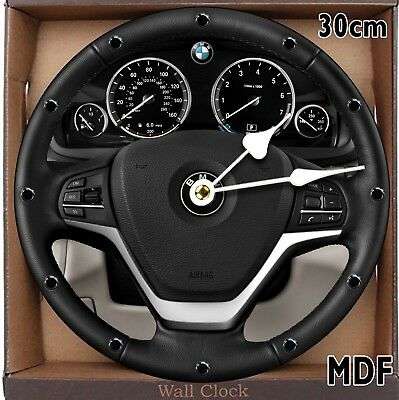 BMW X5 Sport Steering Wheel Wall Clock Large 30CM MDF CAN BE PERSONALISED