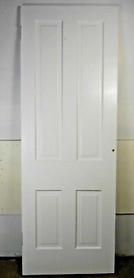 "Antique Vintage 4 Panel Interior Door 78-1/2"" X 28"" X 1-1/8"" Thick 1890's E4"