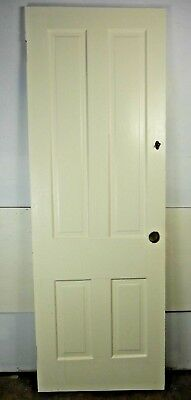 "Antique Vintage 4 Panel Interior Door 79-1/2"" X 27-7/8"" X 1-1/8"" Thick 1890's F4"