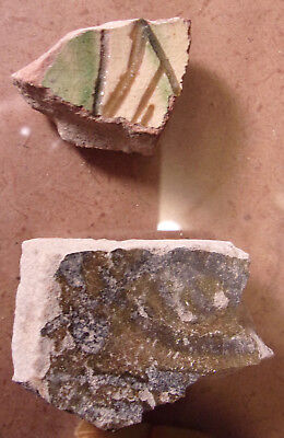 2 Ancient Pottery Fragments Paphos (Turkey) Greek (1.5 inches)