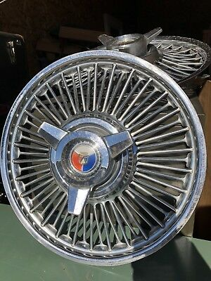 "1960's FORD MUSTANG,FALCON,FAIRLANE,GALAXIE 14"" WIRE SPINNER HUBCAPS ACCESSORY"