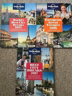 Lonely Planet's collector's edition 2015, 2016 and 2017