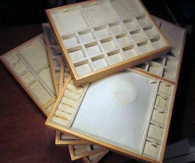 Pandora Jewelry Store Counter Display Tray Pad Wood Gold Retail Sales Authentic
