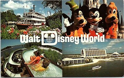 Vintage Walt Disney World Postcard Multi-View River Country Closed Water Park