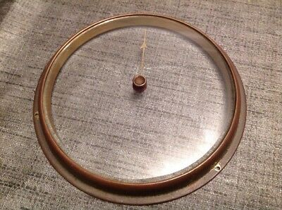 Barometer Bevelled Glass Pointer Antique Brass Bezel Spare Part 141mm Diameter