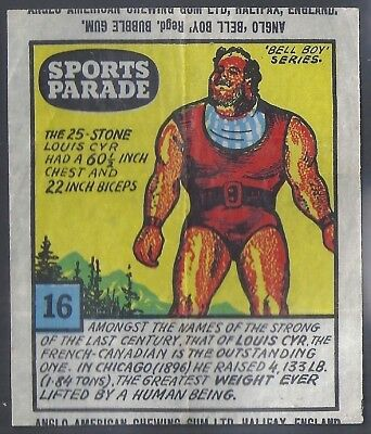Anglo-Sports Parade-#16- Weight Lifting - Louis Cyr
