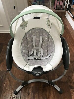 EUC Graco Glider DLX swing- Greenhill