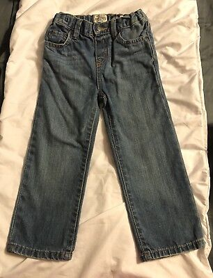 Toddler Boy's Children's Place Blue Jeans Size 4T Straight Adjustable NICE!