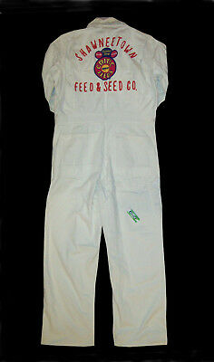Old vtg 1960s Shawneetown Feed Seed Co Embroidered Mans Coveralls Work Uniform