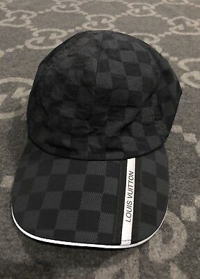 48e2fdf8 100% Authentic Louis Vuitton Damier Baseball Hat Cap Strap Back Hat Very  Rare!