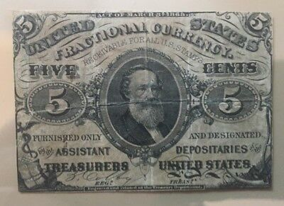 Third Issue 1864-1869 5 five cents fractional currency FR 1238