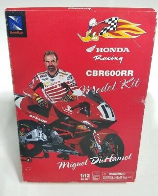 New-Ray Miguel Duhamel Honda CBR600RR Die-Cast Model Kit 1:12 Honda Racing HRC