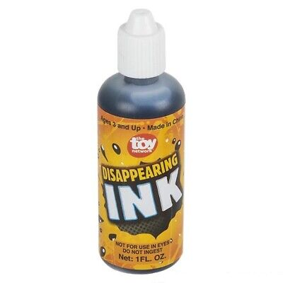 1 Bottle of Magic Disappearing Ink 1oz Bottle - Novelty Party Gag Prank Joke Fun