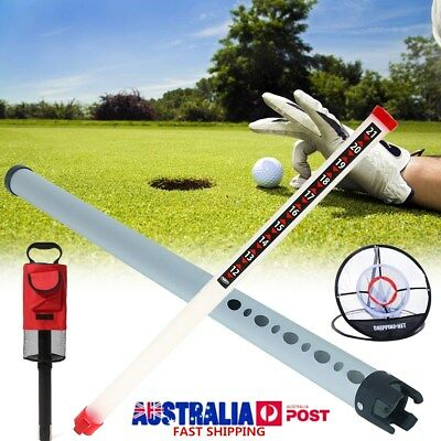 Portable Golf Ball Picker Practice Shagger Pick Up Tube Training Chipping Net AU