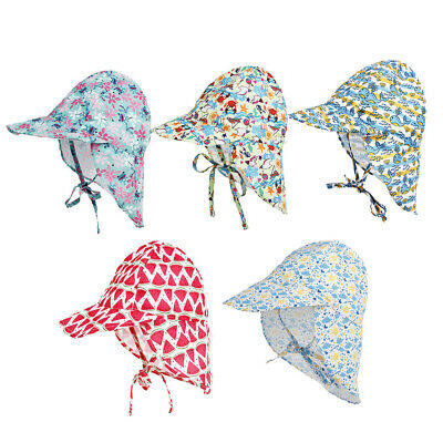 Printed Sun Hat Baby Boys Girls Kids Summer Beach Hat Legionnaire Cap Cotton