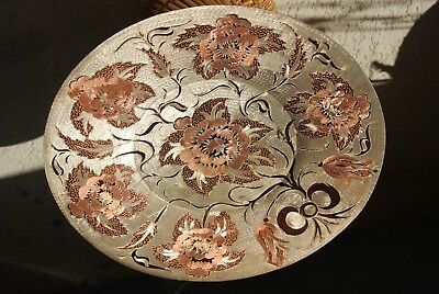 Copper Tray ~ Etched Copper Decor ~ Copper Platter ~ Copper Wall Decor ~ Etching