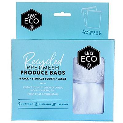 Ever Eco Reusable Produce Bags Fruit Vegetable Grocery Fridge Eco Mesh 8 Pack
