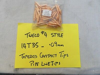TWECO 4 Style  MIG  PIPELINE Contact Tips 0.9mm 14T35 50/pk