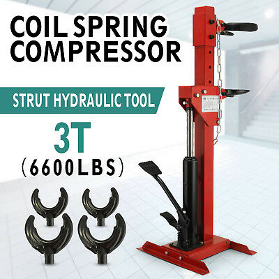 Auto Coil Spring Compressor 6600lbs Height adjustable Hydraulic system Steering